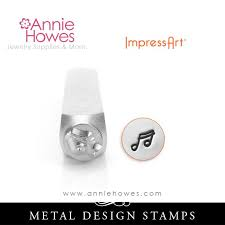music note stamp impressart metal stamps music note stamp annie howes