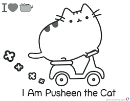 Coloring Pages Pusheen Cat Download This Page