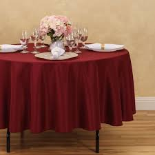 round polyester tablecloth burdy