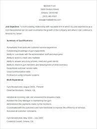 Really Good Resume Templates Sample Gym Resume Template Best Resume