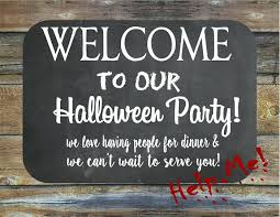 Halloween Welcome Sign Welcome Wood Sign Halloween Sign Up Sheet
