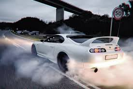 Amazon.com: Toyota Supra Drifting Car Silk Poster 36x24 Inches by ...