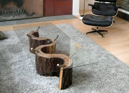 tree stump side table coffee canada diy trunk with glass top t for modern tree