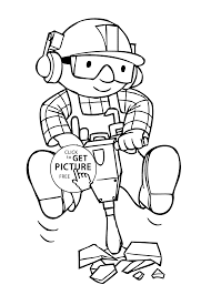 Small Picture working coloring pages for kids printable free Bob the builder