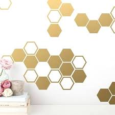 gold honeycomb wall decals hexagon vinyl honey comb decor for gifts diy on
