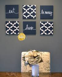 eat drink be merry wall art set on food and drink wall art with navy blue wall art set