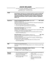 Sample Resume Free Resumes Easyjob Profile Examples Good Entry Level