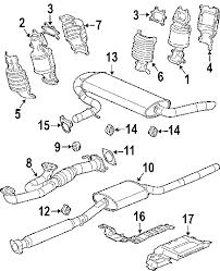 parts com® saturn vue exhaust components oem parts 2007 saturn vue base v6 3 5 liter gas exhaust components