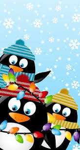 christmas penguin wallpaper. Contemporary Penguin Penguins Christmas Phone WallpaperHoliday  For Penguin Wallpaper R