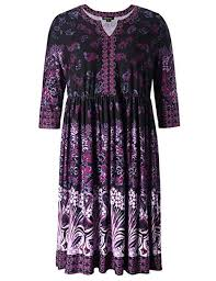 Women S Plus Size Measurement Chart Chicwe Womens Plus Size V Neck Floral Printed Dress Knee Length Casual And Work Dress