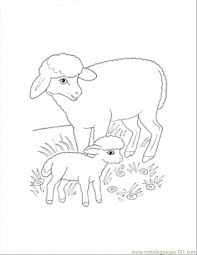Small Picture Mother And Lamb Coloring Page Coloring Page Free Sheep Coloring