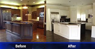 Paint Kitchen Cabinets Before And After Extraordinary Dallas TX Expert Cabinet Painting Services DR Floors And Home