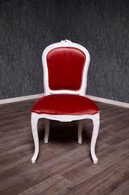 Barock Stuhl Rcr 036 In Weiß Rot