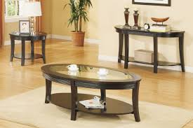 Coffee Table, Beautiful Black Oval Modern Wood Coffee Table Sets For Sale  With Glass Top ...