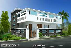 North Face Elevation Designs 100 Sq Yds 30x30 Sq Ft North Face House 1bhk Elevation View
