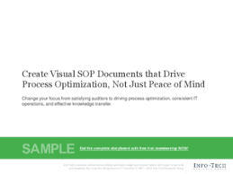 Create Visual Sop Documents That Drive Process Optimization, Not ...