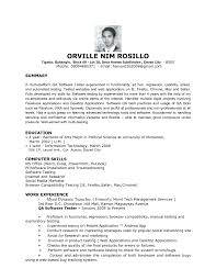 Test Engineer Resume Resume Online Builder
