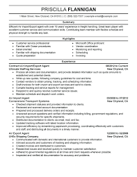 Import Coordinator Resume Examples Sample Export Example Executive