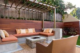 concrete patio with square fire pit. Built-In Fire Pit Seating Concrete Patio With Square E