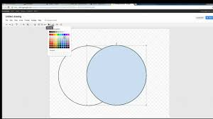 How To Make A Venn Diagram On Google Drawing Creating A Venn Diagram In Google Draw Youtube