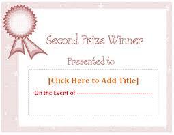 gift certificates certificate templates prize certificate template