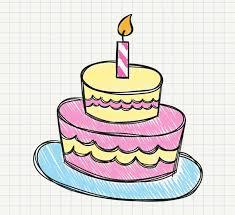 Painted Birthday Cake Vector Graphics My Free Photoshop World