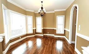 two tone paint with chair rail painted chair rail dining room two tone walls with painting