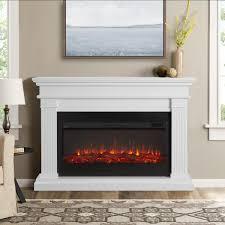 real flame beau 58 inch electric fireplace mantel white 8080e w gas log guys