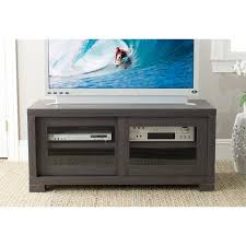 modern black walnut wood tv cabinet with sliding glass doors dazzling television cabinets with doors