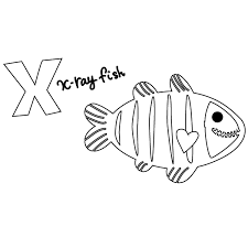More than 5.000 printable coloring sheets. X For X Ray Fish Coloring Page Babadoodle