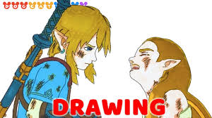 Breath of the wild (jp). Speed Drawing The Legend Of Zelda Breath Of The Wild Drawing Coloring Pages Videos For Kids Youtube