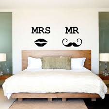 mr and mrs wall decor elegant wall decal mr and mrs headboard wall stickers by