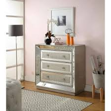 Mirrored Furniture Living Room Mirrored Furniture Mock Croc 3 Drawer Chest Of Drawers Hall Living