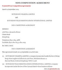Non Compete Agreement Template Download Pdf Agreements Org