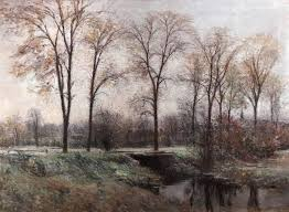 this fine landscape painting probably the fens boston ma was painted by