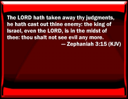 Image result for ZEPHANIAH  3:15