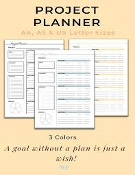 Project Planner Productivity Planner Work Planner Project