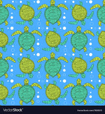 Turtle Pattern Delectable Sketch Sea Turtle Pattern Royalty Free Vector Image