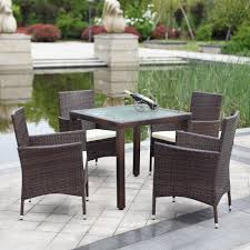 rattan patio set rattan patio furniture clearance square glass topped wicker dining table with