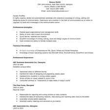 High School Resume Template No Work Experience Blank High School Student Resume Templates No Work Experience Free