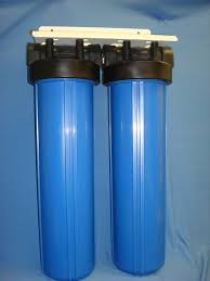 Whole House Water Sediment Filter Whole House Filter Dual 20 Bb Blue Housing 1 Ports