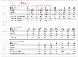 Donna Morgan Size Chart Morgan And Company Size Chart 2019