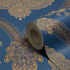 Gold Blue Wallpaper B&q ...