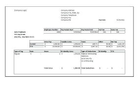 Paycheck Stub Template Sample Pay Check Format