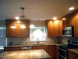 kitchen recessed lighting spacing lighting over kitchen