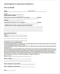 Personal Car Sale Agreement 10 Vehicle Sales Contract Samples Templates Pdf Google
