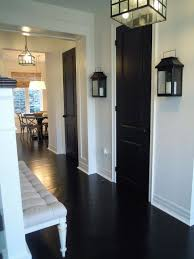 black doors add drama