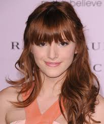 Casual Hairstyles 89 Inspiration Bella Thorne Long Curly Casual Half Up Hairstyle With Layered Bangs