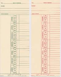 Bi Weekly Time Card Gtr 6023 Gt 2 Bi Weekly Time Card
