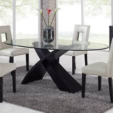 Oval Glass Dining Room Table
